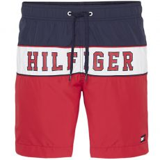 SHORT DE BAIN LONG DRAWSTRING ROUGE M01117 - TOMMY HILFIGER