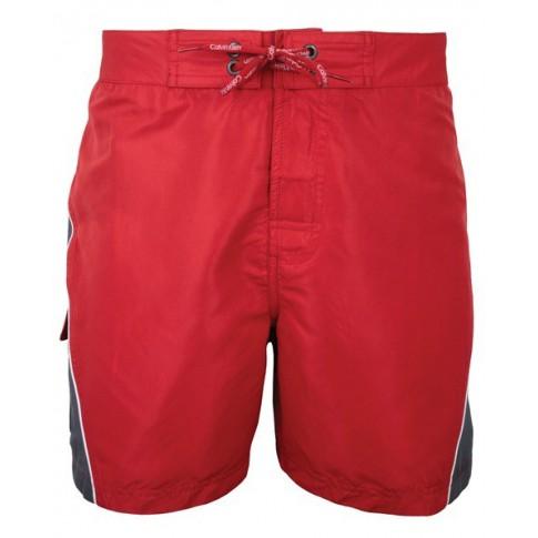 CK Swimwear - SHORT DE BAIN MEDIUM ROUGE/GRIS 58009W2-654