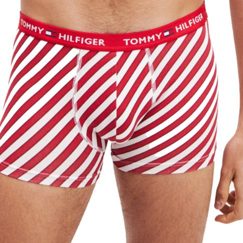 BOXER TRUNK CANDY CANE ROUGE M01543 - TOMMY HILFIGER
