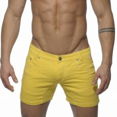BERMUDA/SHORT EN JEAN JAUNE - ES COLLECTION