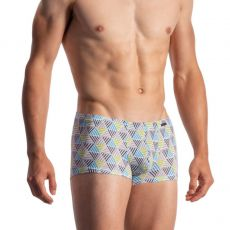 BOXER GEOMETRIQUE COLORE MINIPANTS BLANC 1973 - OLAF BENZ