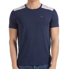 T-SHIRT COL ROND COLOR BLOCK NAVY - EMPORIO ARMANI