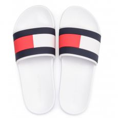 CLAQUETTES ESSENTIAL FLAG POOL SLIDE BLANC M02327  - TOMMY HILFIGER