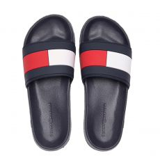 CLAQUETTES ESSENTIAL FLAG POOL SLIDE MARINE M02327  - TOMMY HILFIGER