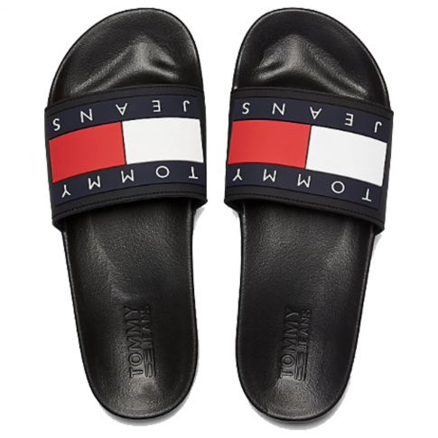 CLAQUETTES FLAG POOL SLIDE MARINE M00284  - TOMMY JEANS