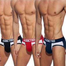 PACK DE 3 SLIPS COMBI MESH AD845 - ADDICTED