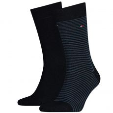 CHAUSSETTE PACK 2 PAIRES MARINE UNI ET MARINE A RAYURES - TOMMY