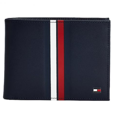 PORTEFEUILLE HORIZONTAL METRO CC FLAP AND COIN MARINE  - TOMMY HILFIGER