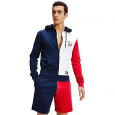 GILET COLOR BLOCK MARINE M01804 - TOMMY HILFIGER