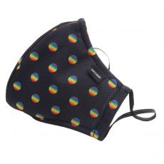 MASQUE DE PROTECTION MAJOR GENERAL MICHELINHO NOIR/RAINBOW - BARCODE