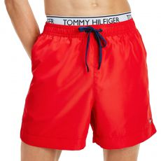 SHORT DE BAIN DW MEDIUM DRAWSTRING ROUGE M01719 - TOMMY HILFIGER