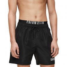 SHORT DE BAIN MEDIUM DOUBLE WB NOIR M00450  - CALVIN KLEIN