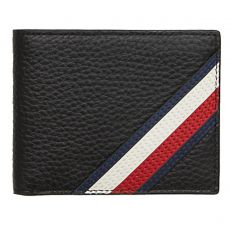 PORTEFEUILLE HORIZONTAL  DOWNTOWN MINI CC WALLET NOIR  - TOMMY HILFIGER