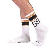 CHAUSSETTES HAUTES SPORT SOCKS 69 BLANCHES - BARCODE BERLIN