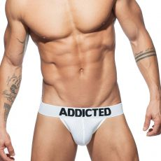 JOCK STRAP PUSH UP EN MESH BLANC AD773 - ADDICTED