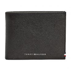 PORTEFEUILLE HORIZONTAL BUSINES CC FLAP AND COIN NOIR  - TOMMY HILFIGER