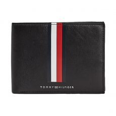 PORTEFEUILLE HORIZONTAL TH METRO CC AND COIN NOIR  - TOMMY HILFIGER