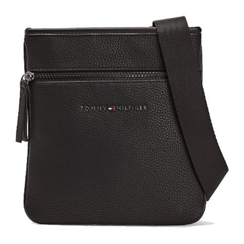 BESACE PLATE ESSENTIAL MINI CROSSOVER NOIR M06478 - TOMMY HILFIGER