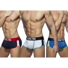 PACK DE 3 BOXERS SECOND SKIN AD899 - ADDICTED