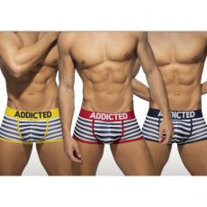 PACK DE 3 BOXERS MESH SAILOR MARINE/JAUNE/ROUGE AD965 - ADDICTED