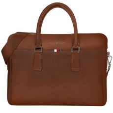 SACOCHE POUR ORDINATEUR PORTABLE TH BUSINESS MARRON M06842 - TOMMY HILFIGER