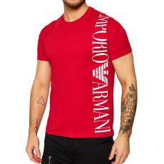 T-SHIRT BANDE LOGO COL ROND ROUGE - EMPORIO ARMANI