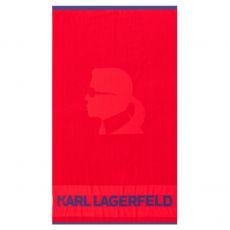 DRAP DE PLAGE ROUGE KARL - KARL LAGERFELD