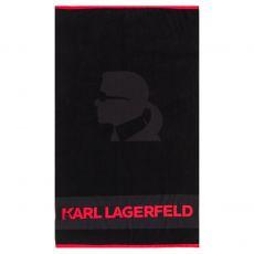 DRAP DE PLAGE NOIR KARL - KARL LAGERFELD
