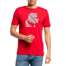 T-SHIRT GRAPHIC FONT ROUGE - KARL LAGERFELD
