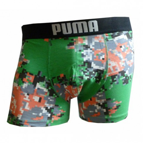 PUMA BOXER HOMME PIXELATED FLOWER GREENBRIAR