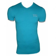 GUESS T-SHIRT MAN UK6U2F TURQUOISE