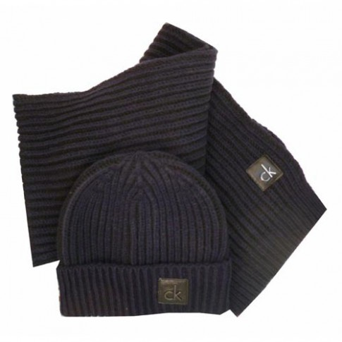 6c8ba5144db Calvin klein jeans - coffret bonnet echarpe marinos marine ...
