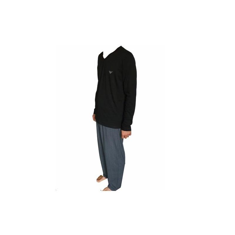 Armani tenue d 39 interieur noir logote for Tenue interieur