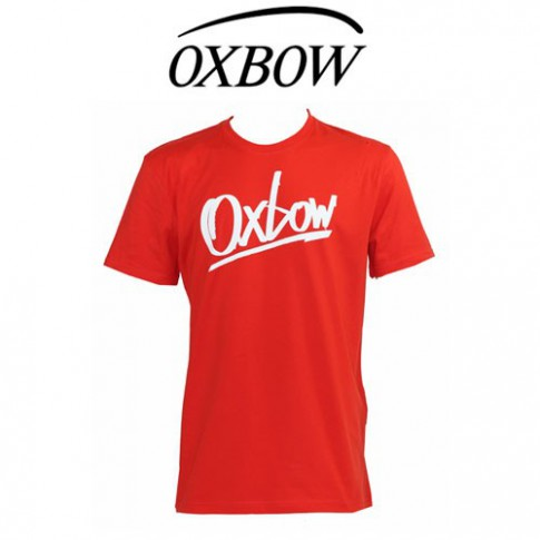 OXBOW - T SHIRT MARKERSS ROUGE