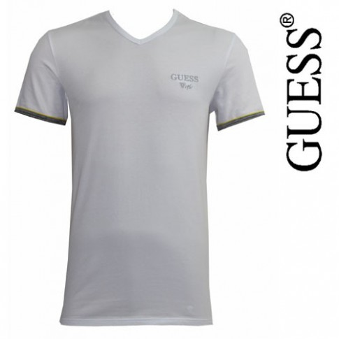 GUESS - T-SHIRT BLANC BRET UG7U2A