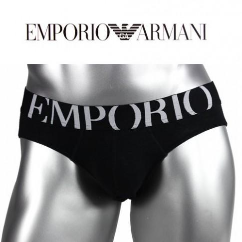 EMPORIO ARMANI SLIP EAGLE NOIR