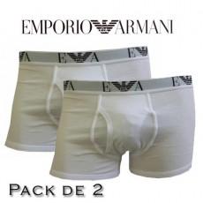 EMPORIO ARMANI - LOT DE 2 BOXERS BLANCS EAGLE
