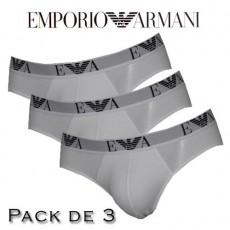 EMPORIO ARMANI - LOT DE 3 SLIP BLANC