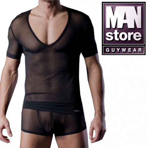MANSTORE M105 V-NECK T SHIRT