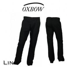 OXBOW - PANTALON EN LIN TIKO NOIR