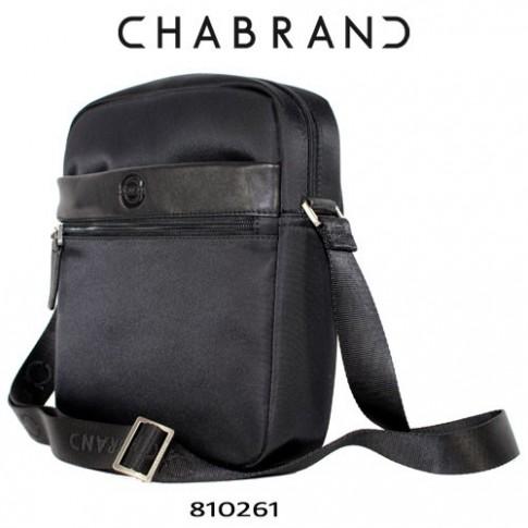 CHABRAND – BESACE NOIRE EN TOILE GARNIE 81026-1