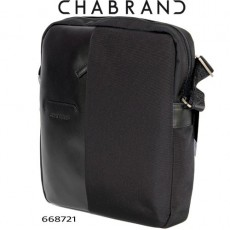 CHABRAND –  BESACE LIGNE LUXOR NOIRE EN TOILE ET EN CUIR 66872-1