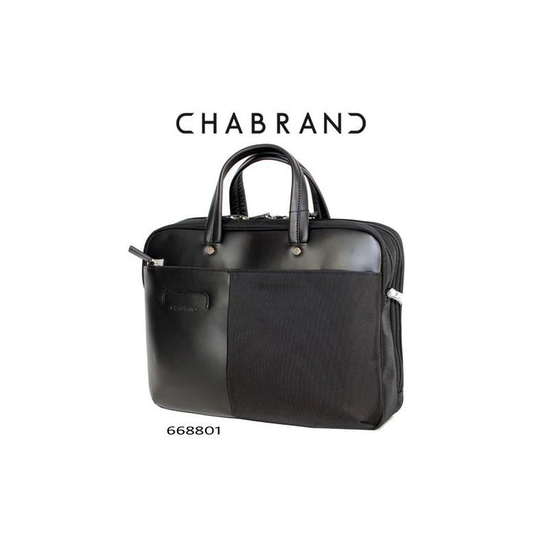 Porte-papiers Chabrand en cuir noir B6Ur8t
