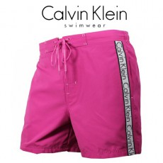 CK SWIMWEAR - SHORT DE BAIN MEDIUM ROSE 58238W3-261