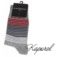 KAPORAL - CHAUSSETTES RAYURES FINES GRISE