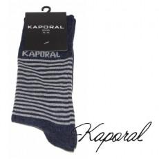 KAPORAL - CHAUSSETTES RAYURES FINES INDIGO