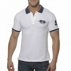ES POLO SLIM FIT BLANC POLO01-C01
