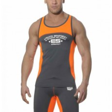 ES SP007  DEBARDEUR SPORT RUNNING TANK TOP GRIS/ORANGE