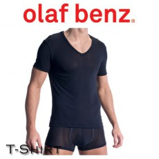 OLAF BENZ - T-SHIRT RED1313 V NECK NOIR