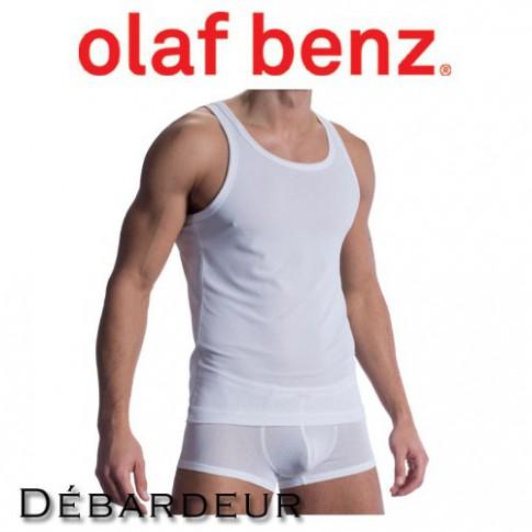 OLAF BENZ - DEBARDEUR RED1313 SPORTSHIRT BLANC